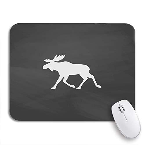 Gaming Mouse Pad Elch Imitation Zeichnen Sie weiße Kreide auf Tafel Flache Piktogramm rutschfeste Gummi Backing Mousepad für Notebooks Computer Maus Matten