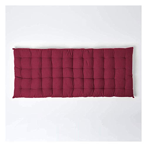 Bench Cushion 2/3 Seater,Thick 8cm Rectangle Bench Seat Cushions,Cotton Bench Seat Cushion Pad for Chaise Swing Garden Outdoor Indoor,Red-55 * 165cm