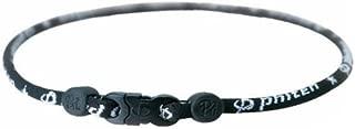 Phiten, Titanium Star Necklace, Black, 22-Inches