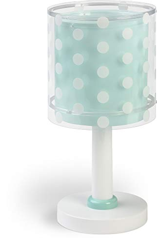 Dalber Lámpara Infantil Mesilla Dots Puntos Verde, 40 W