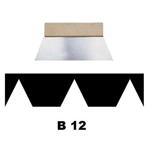 Leim Klebstoff Zahnspachtel Bodenleger Normalstahl B12 5.0x5.0mm gezahnt 180mm