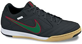 5 Gato Leather Indoor Soccer Shoes (4) Black/Green