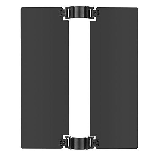 Andoer Metal Adjustable Barn Door for Portable Handheld 516pcs LED Magic Tube Light and Same Size Handheld LED Light