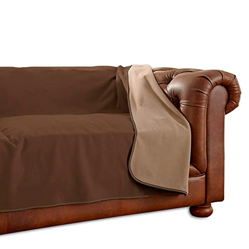 100% Waterproof Furniture Cover by Mambe - Sofa, 70' x 120', Chocolate Cappuccino - for Pets and People - for All Types of Furniture and Bedding from Spills, Accidents, and Normal Wear and Tear