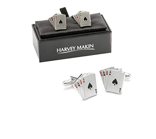 Harvey Makin four Aces Playing Cards Cufflinks