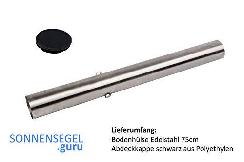 Toldoro Bodenverankerung Bodenhülse für Sonnensegelmast Ø70mm Edelstahl V2A