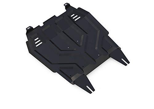 Unterfahrschutz, Motorschutz und Getriebeschutz aus Stahl in Schwarz, Unterbodenschutz Auto - Motor Cover