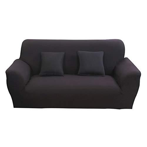 Hotniu Funda Sofa 2 Plazas, Fundas Elastica de Sofá, Fundas para Sofa Ajustables, Antideslizante Protector Cubre Sofa (Dos Plazas, Negro)