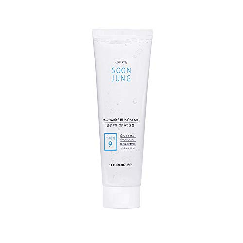 ETUDE HOUSE SoonJung Moist Relief All In One Gel 120ml | Moisturizing Soothing Multi-Gel | Toner, Emulsion and Essence all Korean Skin Care Routine in One to Refresh and Relieve Tired Skin