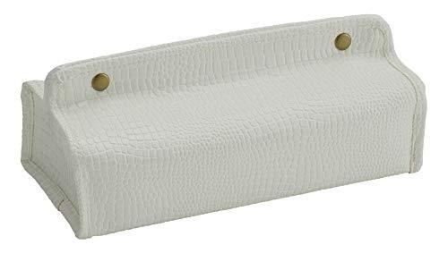 クォーターリポート ティッシュケース 吊り下げ クラック ホワイト W25×H5~6.2×D12cm 合皮 フェイクレザー 【日本製】 4518156105655