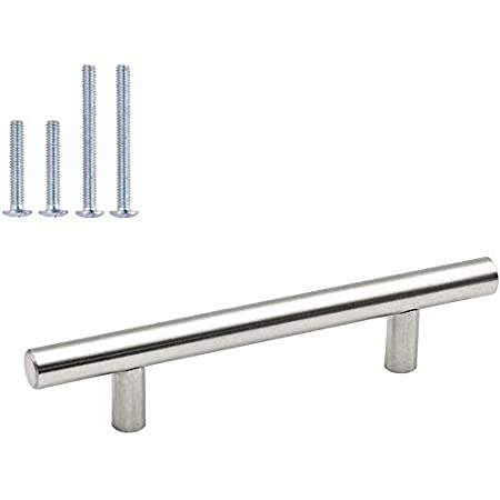 Rod Handles Furniture Handle Railing Grip Cabinet Chrome Silver Stainless Steel 128 mm V542