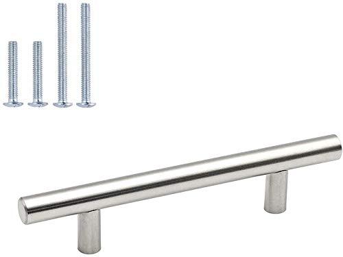 homdiy Cabinet Handles Brushed Nickel Drawer Pulls - HD201SN Cabinet Hardware Stainless Steel Kitchen Cupboard Handles Cabinet Handles,30 Pack 3-1/2in Hole Centers Handles for Dresser Drawers