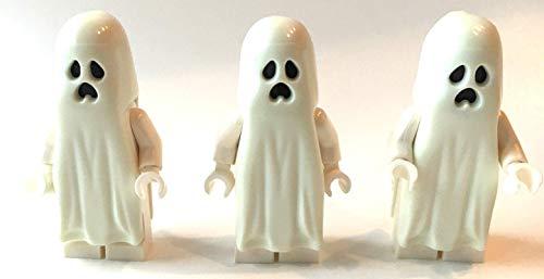 3 x Lego Minifigur Geist / Gespenst ( nachtleuchtend )