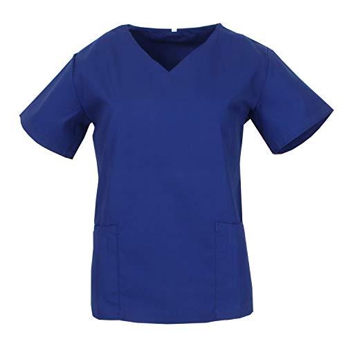 MISEMIYA Medical Uniform Scrub Top Unisex Tunika zum Stillen, Azul, XL