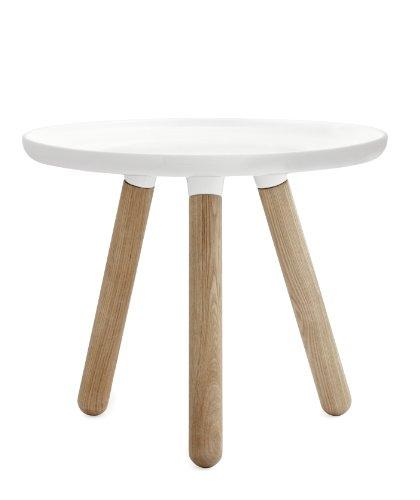 Normann Copenhagen Tablo Tisch, Kunststoff, Eschenholz, Weiß, 42x50cm
