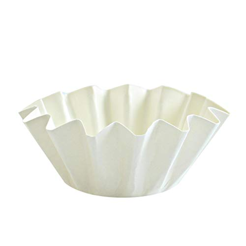 Floret Baking Cups   White   Large   Pack of 20