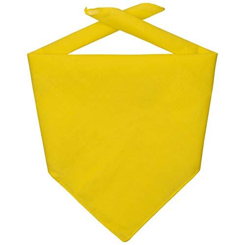 Hutshopping Bandana Tuch Bandanatuch Baumwolltuch Halstuch Bandanas Kopftücher (One Size - gelb)