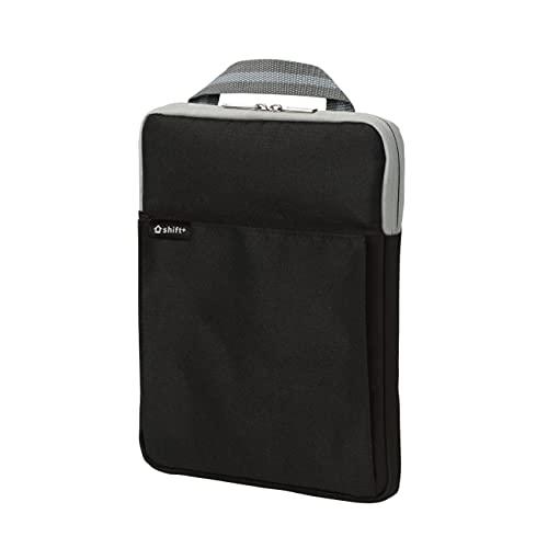 PCバッグ PCケース gigaスクール構想対応 丈夫 持帰り 10 11 14インチ ノートPC パソコン タブレット ipad 対応 家庭学習 オンライン授業 持ち運び 衝撃吸収 教材 (ブラック, クッション付・Sサイズ) (0046-ks-black)