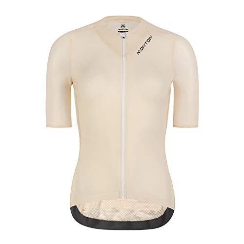 CJshop Maillot de Ciclismo Ropa de Ciclismo Bicicleta para Mujer Top Transpirable Ligero Top Ciclismo Ropa de Manga Corta Bike Jersey, Amarillo Claro Ciclismo de Ropa (Size : L)