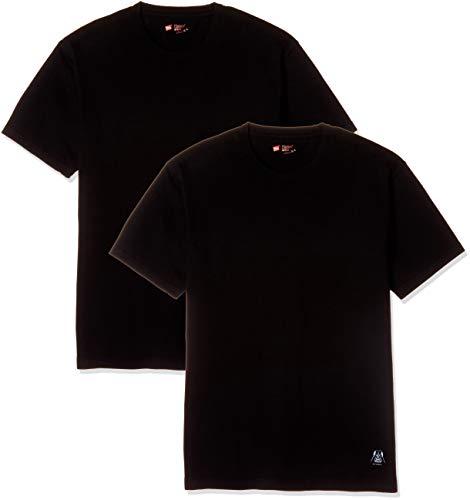 """[ヘインズ] Tシャツ (2枚組) スターウォーズ 限定版 Hanes Japan Fit""""STAR WARS"""" ジャパンフィット H5110SWL メンズ ブラック M"""