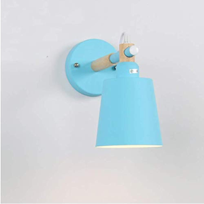 Wandleuchten Nordic Light Massivholz Schlafzimmer Nacht Gang LED Wandleuchte Mode bunte Wandleuchten für Home hotel mit warmwei geführt