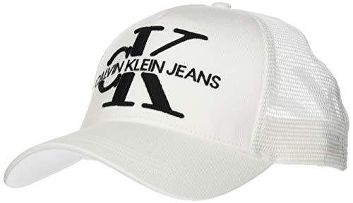 Calvin Klein J Monogram Mesh Trucker Tapa, Blanco Brillante, Taille Unique para Hombre