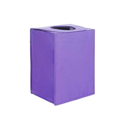 QIQIDEDIAN Panier de Rangement Panier Sale Pliable avec Housse Home Fabric Express Boucle Aimant Conception Sac à bandoulière 40 * 30 * 53 cm (Color : Amethyst)