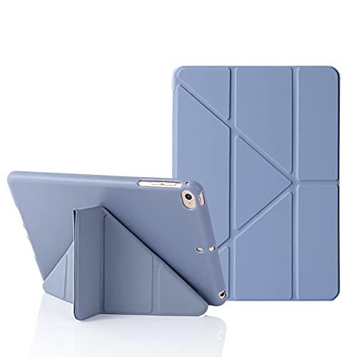 MuyDoux Funda para iPad mini 5 / 4 / 3 / 2 iPad Mini 7,9 Pulgadas, 5 en 1 Múltiples Ángulos de Visión, Carcasa Frontal de Silicona Lisa con Contraportada de TPU Suave, Auto Sueño/Estela (Gris Azulado)