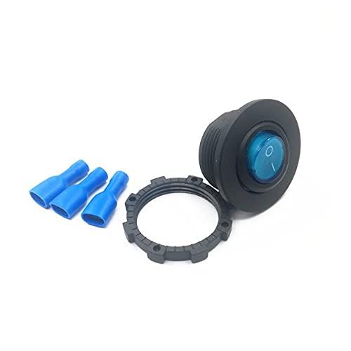 YYOMXXOM DIY ON/Off Rocker Switch A Prueba de Agua Barco de automóvil a Prueba de Agua SPOR Sct Marine Interruptor LED Azul Rojo Verde (Color : Blue)