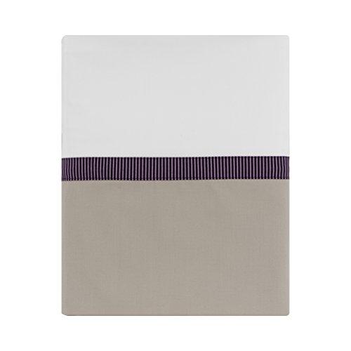 Essix - Drap Plat Toi & Moi Zahara Percale de Coton Meringue 180 x 290 cm