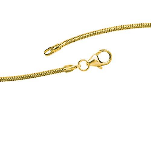 JOBO Schlangenkette 333 Gelbgold 1,4 mm 45 cm Gold-Halskette
