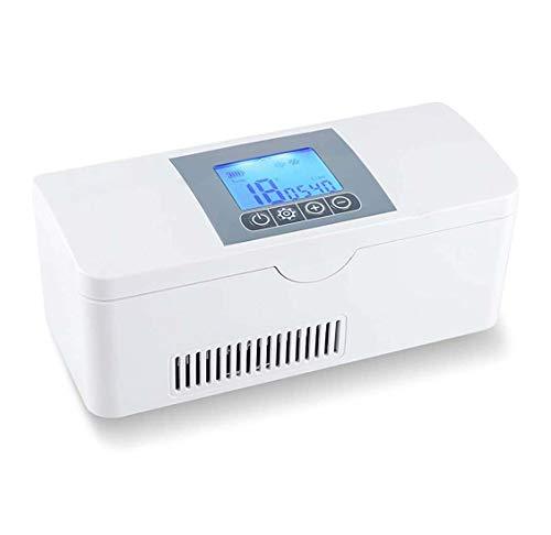 FZ FUTURE Tragbare Insulin Kühlbox für Medikamente Mini Intelligente Elektrische Kühlschrank Kühltasche Thermostat unter 25 ° C mit KFZ USB Ladekabel für Reise&Haushalt