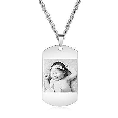Personalized Picture Necklace for Women Men Girls' Fashion Custom Picture Pendant Y-Necklaces for Family Custom Chains Necklace Jewelry Gift