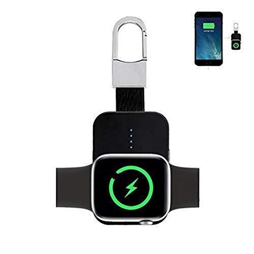 Dikkar Caricabatterie Wireless Compatibile per Smart Watch Apple Watch Series SE 6-1 e 44 40 42 38mm,Caricatore Portatile Magnetico 950 1000 mAh Portachiavi Intelligente,Caricatore iWatch Tascabile