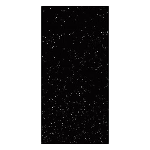 QKFON Cortina de tela hueca con diseño de cielo estrellado, adecuado para dormitorios, asientos de huéspedes, habitaciones de estudio