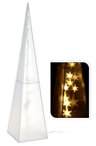 Spetebo LED Lichtkegel 60 cm mit 24 warmweißen LEDs - schöne Lichtpyramide im 3D Design