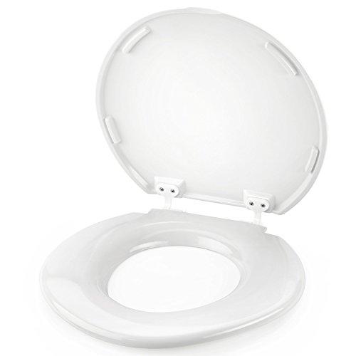Heim & Büro Toilettensitz XXL | bis 450 kg Tragkraft | WC Sitz | Toilette | Toilettendeckel | Klodeckel