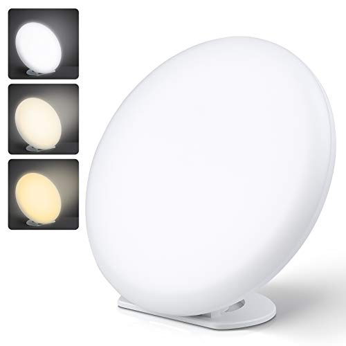 MVPower Light Lamp, UV-Free LEDs, RF Remote Control with 3 Adjustable Light Temperatures and 5 Brightness Levels & Stepless Dimmer, Time Setting and Memory Function, 10,000 lux Intensity