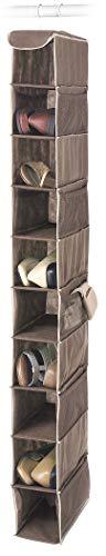 Whitmor Estantes colgantes para zapatos y accesorios, marrón, Estantes colgantes para zapatos, Java, 1