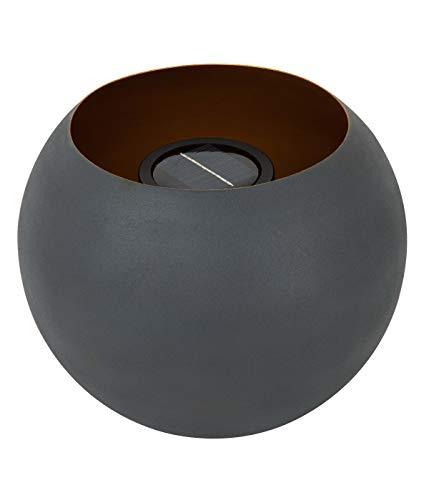Dehner Solar Feuerkugel Siro, Ø 25 cm, Höhe 20.5 cm, Metall, dunkelgrau/gold