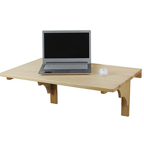 Home & Selected Furniture/aan de muur gemonteerd computerbord van massief houten eettafel, inklapbaar aan de muur met inklapbare vleugels (grootte: 80 x 50 cm)