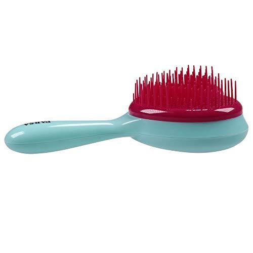 PARSA BEAUTY Entwirrbürste Kinder-Haarbürste Zauberherz mit Griff zum Entwirren und für geschmeidiges und glänzendes Haar mint