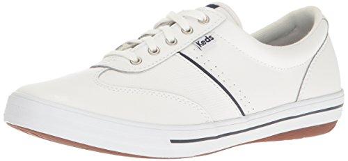 Keds Women's Craze Ii Leather Fashion Sneaker, White, 9 M US