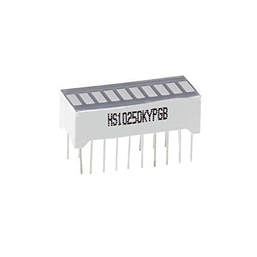 BIlinli 10-Segment-LED-Balkenanzeige Rot, Gelb, Grün, Blau