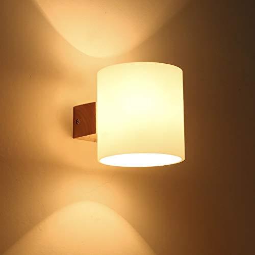 YANQING Duurzame JUE LED Wandlamp, Binnen Moderne Wandglazen Lichten Sconce Up Wandlamp Voor Hotle Business/Slaapkamer/Hal (Lamp is niet inbegrepen) A++ (Maat: A), Grootte: A