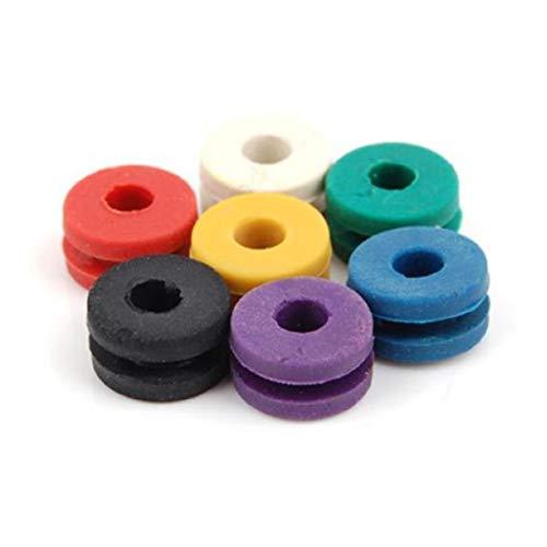 SUPVOX Aiguille de tatouage 100pcs oeillets une fourniture de pièces de machine de tatouage barre de silicone pad (couleur mélangée)