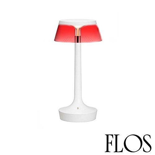 Flos Unplugged Bon Jour Lampe de table blanche à LED avec abat-jour transparent (référence F1036000) Code produitF1035009