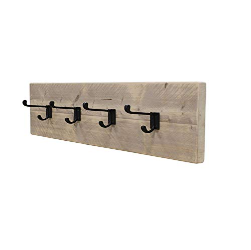 Steigerhoutpassie - Kapstok - Steigerhout - Wandbevesting - Blinde bevestiging - Incl. Handleiding - (L)80 x (H)19 x (D)13,5cm