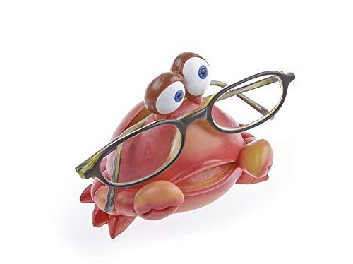 By-Bers Kinderbrillenhalter, Brillenhalter Karibik, Design Krabbe, handbemalt, aus Polyresin, für jung und alt, für Kinder und Junggebliebene, lustig und frech