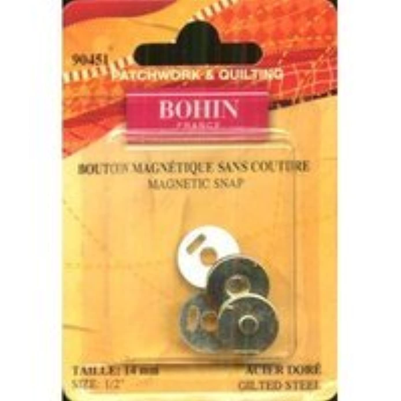 Bohin Magnetic Snap Gilted